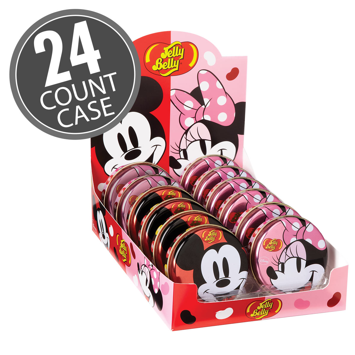 Disney© Mickey Mouse and Minnie Mouse 1 oz Tin - 24 Count Case