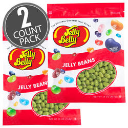 Juicy Pear Jelly Beans - 16 oz Re-Sealable Bag - 2 Pack