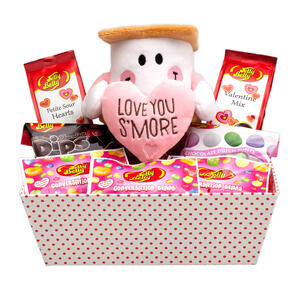 Jelly belly gourmet candy gift baskets jelly belly candy company love you smore valentine gift tray negle Image collections
