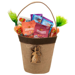 Wooden Bunny Easter Basket