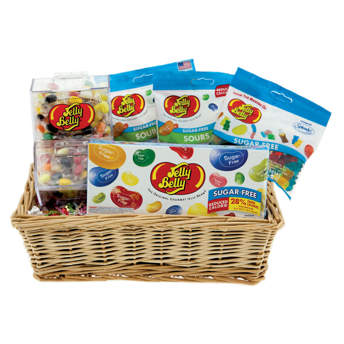 Sugar free assortment gift basket jelly belly candy company negle Choice Image