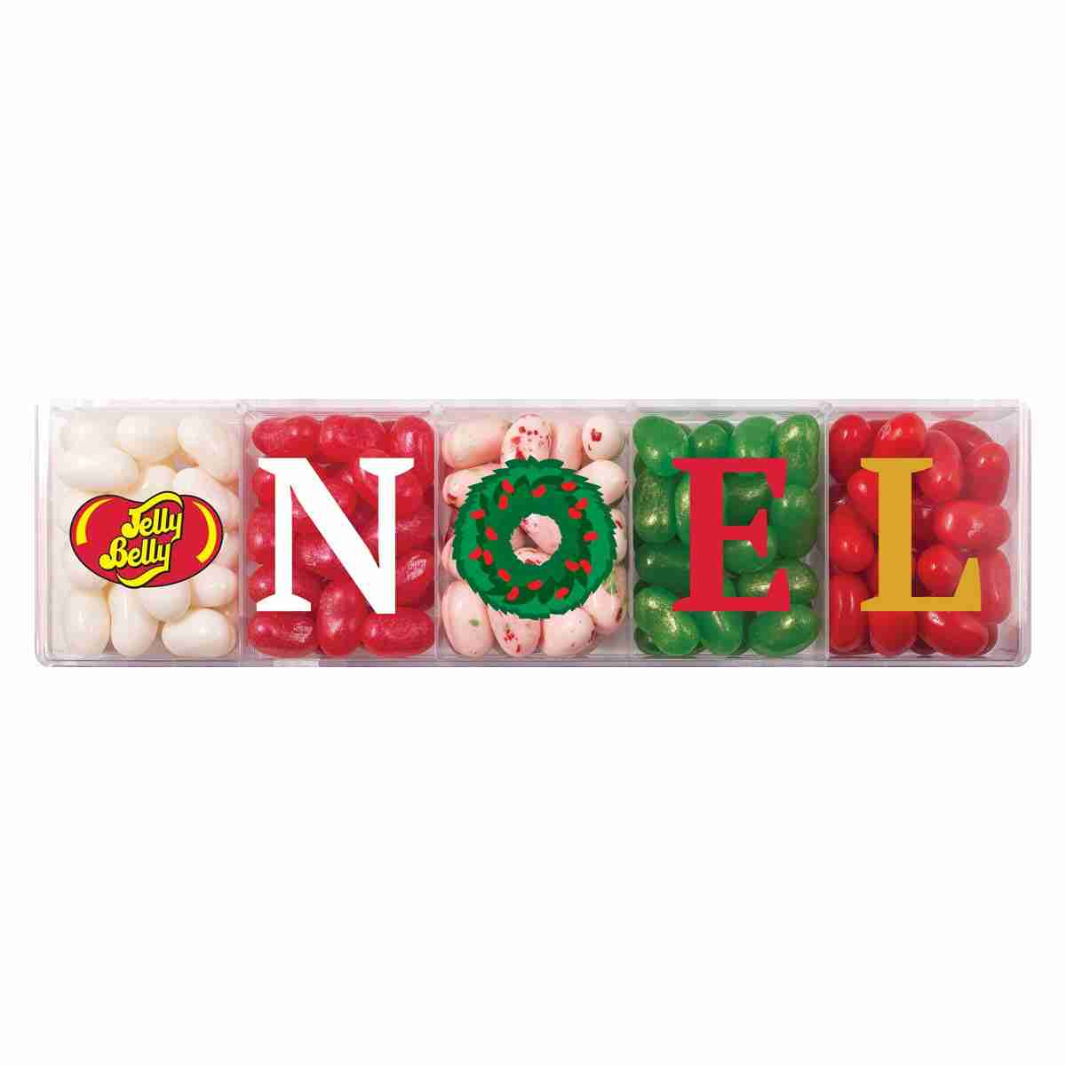 Jelly Belly 5-Flavor NOEL Clear Gift Box - 4 oz