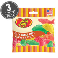 Jelly Belly Fish Chewy Candy - 2.8 oz Bag - 3-Count Pack