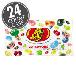 20 Assorted Jelly Bean Flavors - 1.45 oz Bags - 24 Count Case