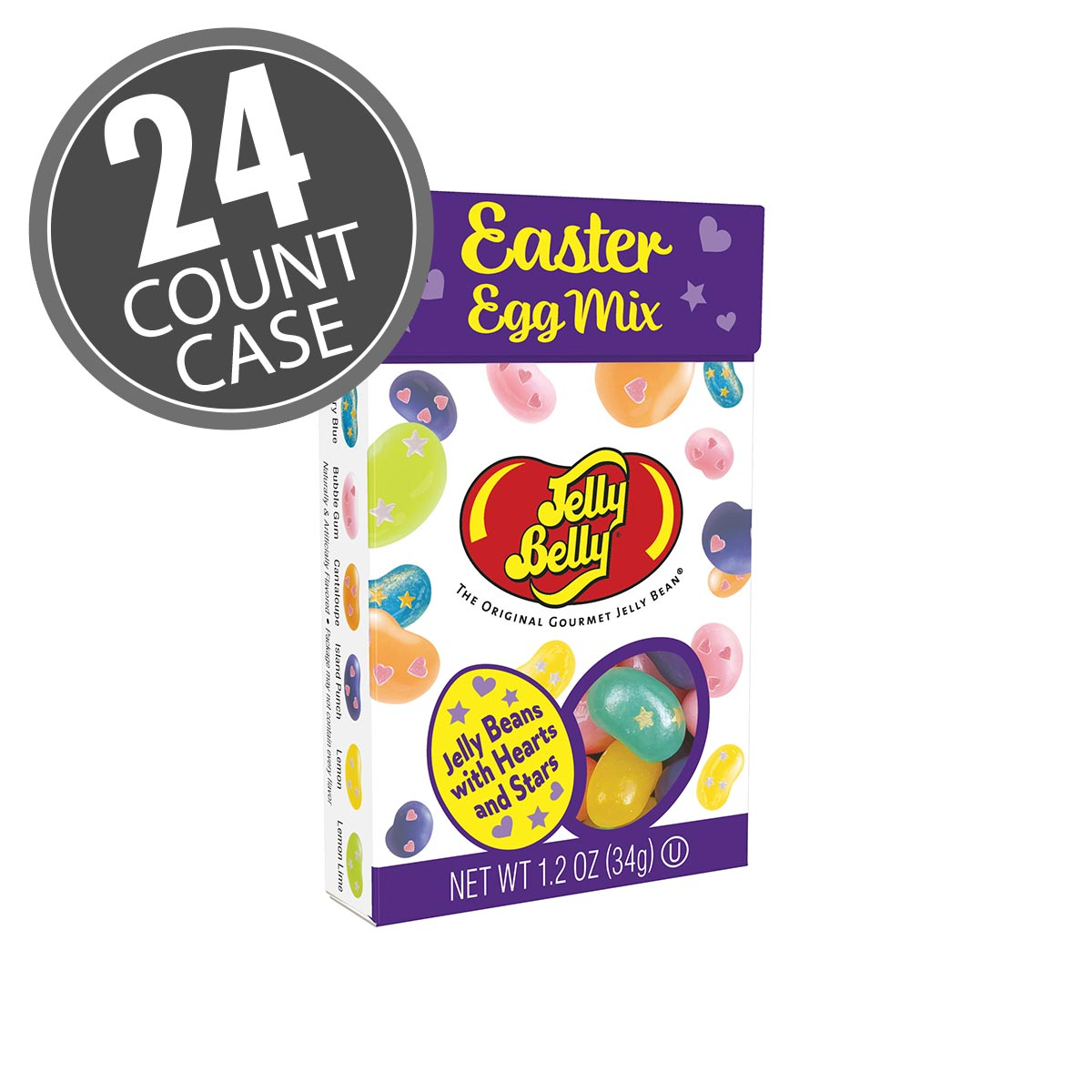 Jelly Belly Easter Egg Mix Flip Top Box, 1.2 oz - 24 Pack