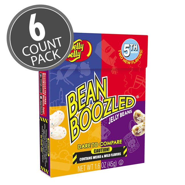 BeanBoozled Jelly Beans - 1.6 oz box (5th edition) - 6 Pack