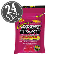 Extreme Sport Beans® Jelly Beans with CAFFEINE - Pomegranate 24-Pack