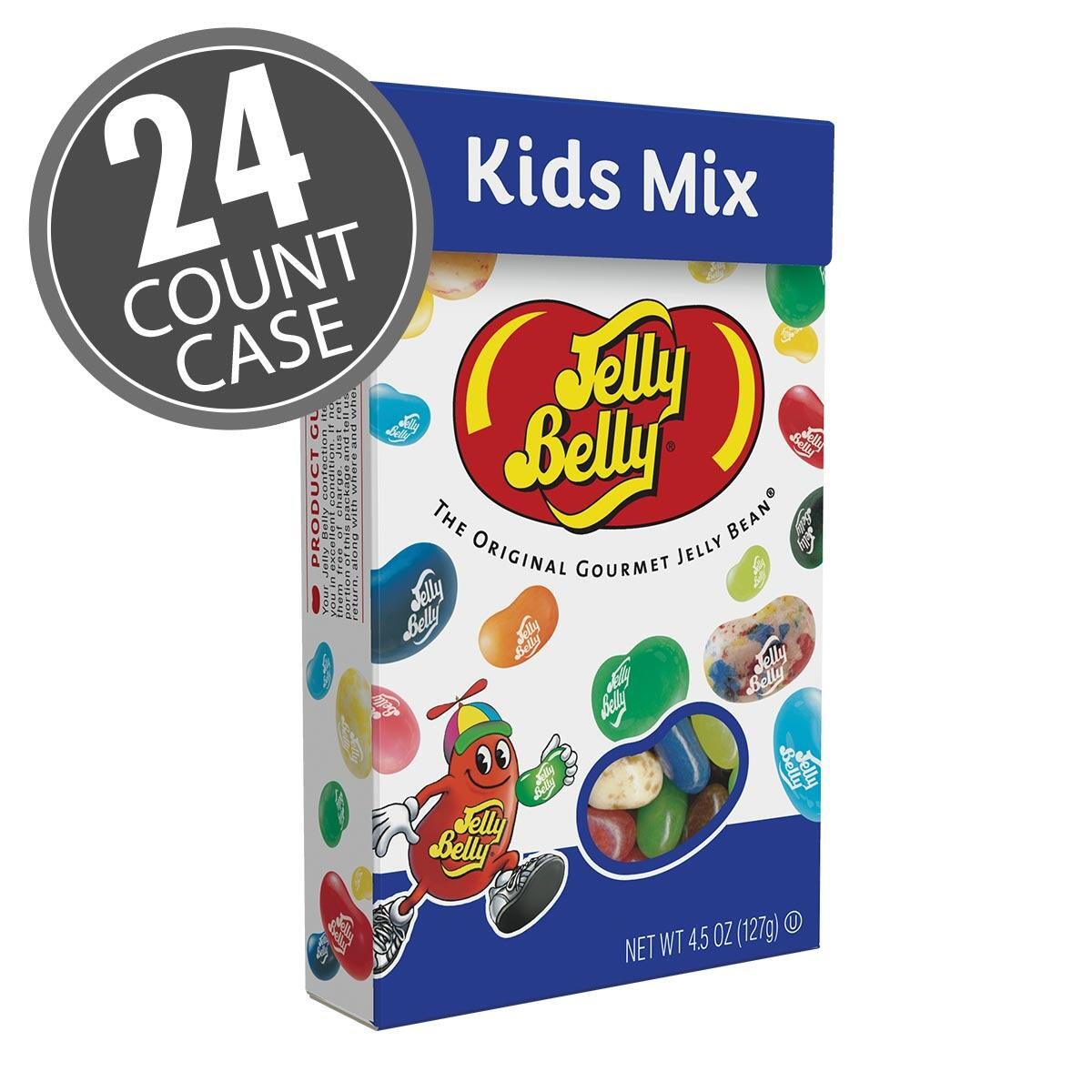 Kids Mix Jelly Beans 4.5 oz Flip-Top Boxes 24-Count Case