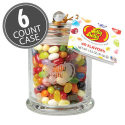 Jelly Belly Classic Glass Jar - 6 Count Case