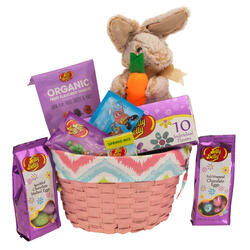 Springtime Decorative Easter Basket - Pink