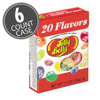 20 Assorted Jelly Bean Flavors - 1.2 oz Flip Top boxes 6-Count Pack