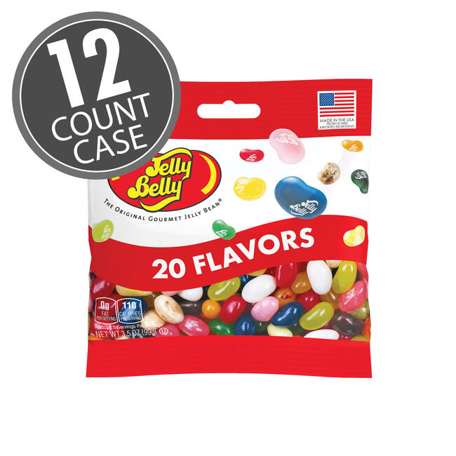 20 Assorted Jelly Bean Flavors 3.5 oz Grab & Go® Bag - 12 Count Case