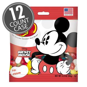 Mickey Mouse Jelly Beans - 2.8 oz Bag - 12 Count Case