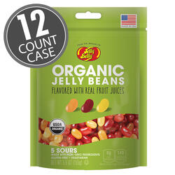 Organic Sours Jelly Beans from the makers of Jelly Belly - 5.5 oz bag - 12 Count Case