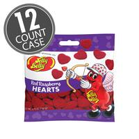 Red Raspberry Hearts 2.75 oz Grab & Go® Bag - 12 Count Case