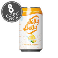 Jelly Belly Orange Sherbet Sparkling Water - 8 Pack