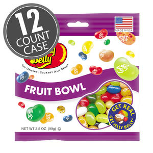 Fruit Bowl Jelly Beans - 3.5 oz Bag - 12 Count Case