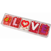Jelly Belly 5-Flavor LOVE Clear Gift Box - 4 oz