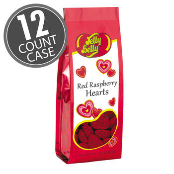 Red Raspberry Hearts - 5.5 oz Gift Bags - 12-Count Case