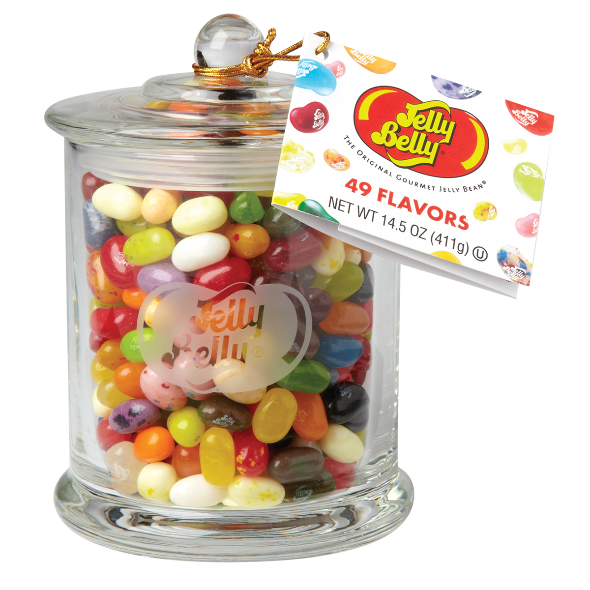 Jelly Belly Classic Glass Jar 49 Assorted Flavors