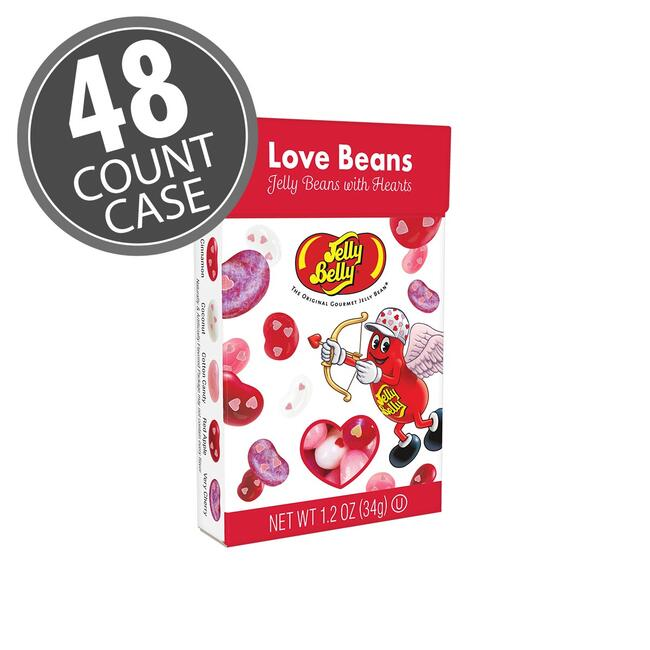 Jelly Belly LOVE Beans 1.2 oz Flip Top Box - 48 Count Case