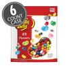 49 Assorted Jelly Bean Flavors 1.31 lb Pouch Bag, 6-Count Case