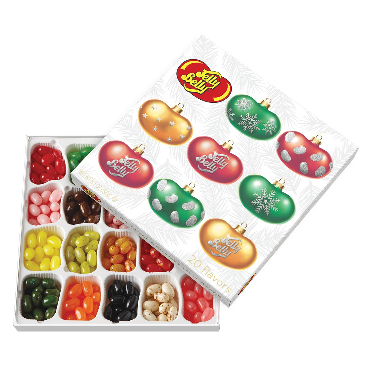 Christmas Flavors.Jelly Belly 20 Flavor Christmas Gift Box
