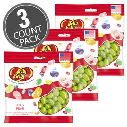 Juicy Pear Jelly Beans - 3.5 oz Bag - 3-Count Pack