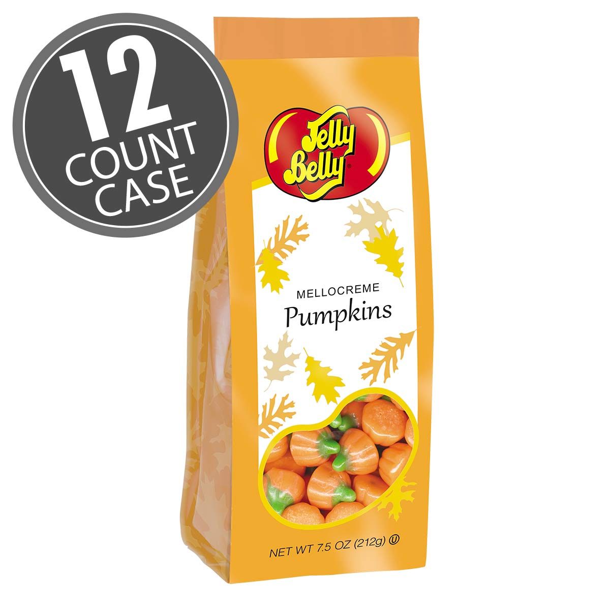 Mellocreme Pumpkins Gift Bags - 7.5 oz Bag - 12 Count Case