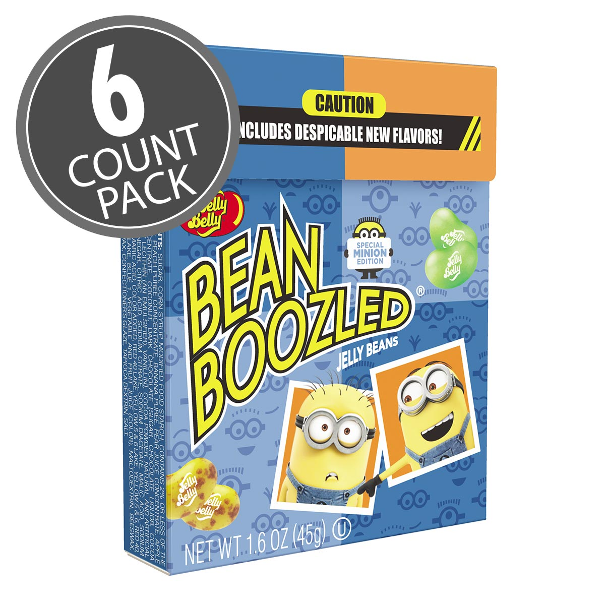 BeanBoozled Minion Edition 16 Oz Flip Top Box 6 Count Pack