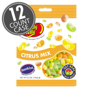Sunkist® Citrus Mix Jelly Beans - 6.5 oz Bags - 12-Count Case