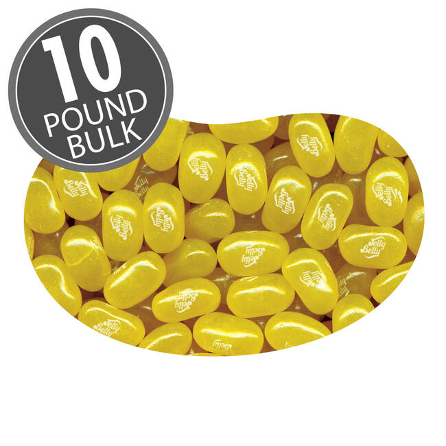 Crushed Pineapple Jelly Beans - 10 lbs bulk