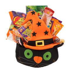 Black Cat Halloween Goody Basket