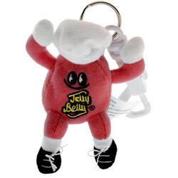 Mr. Jelly Belly Mini Plush Keychain - Very Cherry