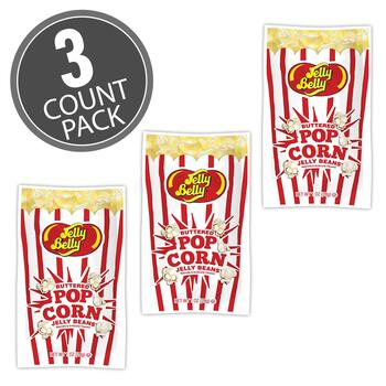 Jelly Belly Buttered Popcorn 1 oz Bag, 3-Count Pack