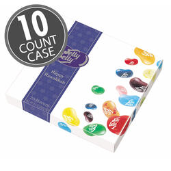 20-Flavor Jelly Bean Hanukkah Gift Box - 10-Count Case