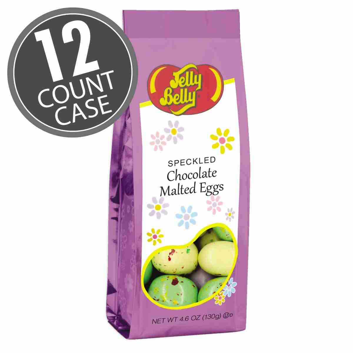 Speckled Chocolate Malted Eggs - 4.6 oz Bags - 12 Count Case