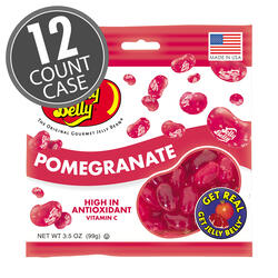 Pomegranate Jelly Beans - 3.5 oz Bags - 12 - Count Case