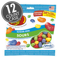 Sugar-Free Jelly Beans Sours - 2.8 oz Bag - 12 Count Case