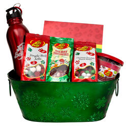 Christmas Holiday Snowflake Gift Basket