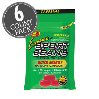 Extreme Sport Beans® Jelly Beans with CAFFEINE - Watermelon 6-Count Pack