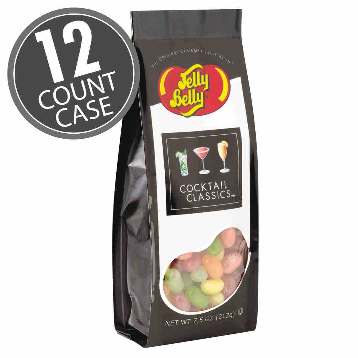Cocktail Classics® Jelly Beans - 7.5 oz Gift Bag - 12 Count Case