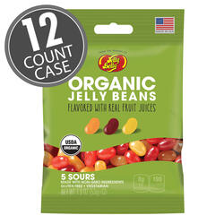Organic Sours Jelly Beans from the makers of Jelly Belly - 1.9 oz bag - 12 Count Case