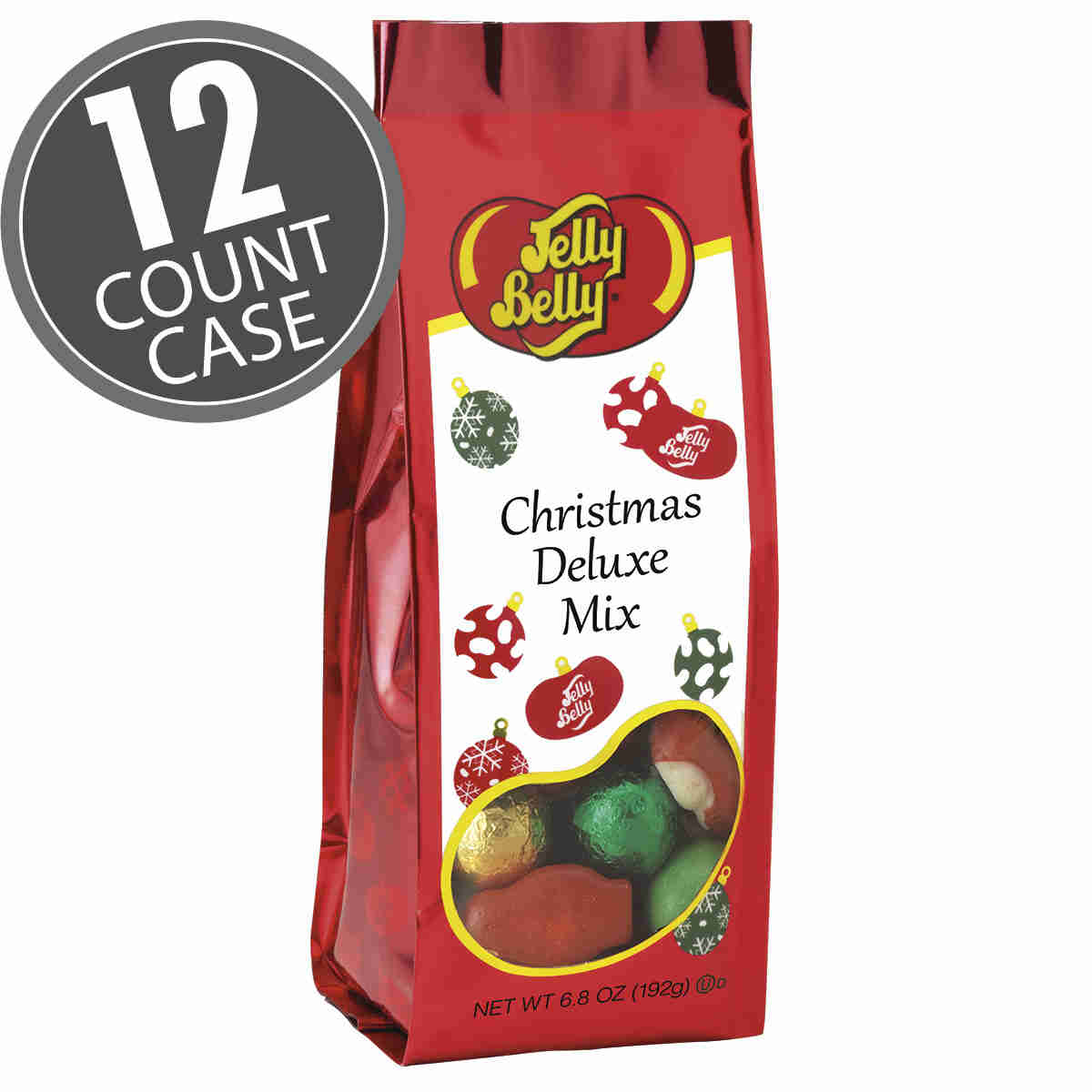 Christmas Deluxe Mix - 6.8 oz Gift Bags - 12-Count Case