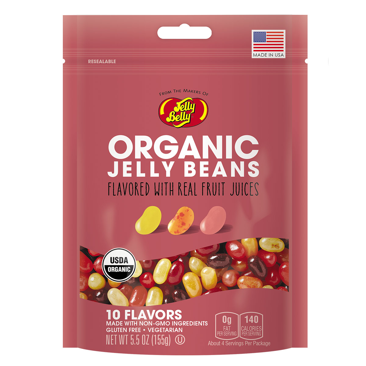 Organic Jelly Beans from the makers of Jelly Belly - 5.5 oz bag ...