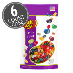 Fruit Bowl Mix Jelly Beans 9.8 oz Pouch Bag, 6-Count Case