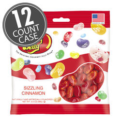 Sizzling Cinnamon Jelly Beans - 3.5 oz Bag - 12 Count Case