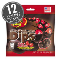 Jelly Bean Chocolate Dips® - Very Cherry - 2.8 oz Bag - 12 Count Case