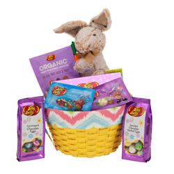 Springtime Decorative Easter Basket - Yellow