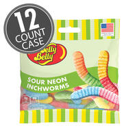 Sour Neon Inchworms 3 oz Grab & Go® Bag - 12 Count Case
